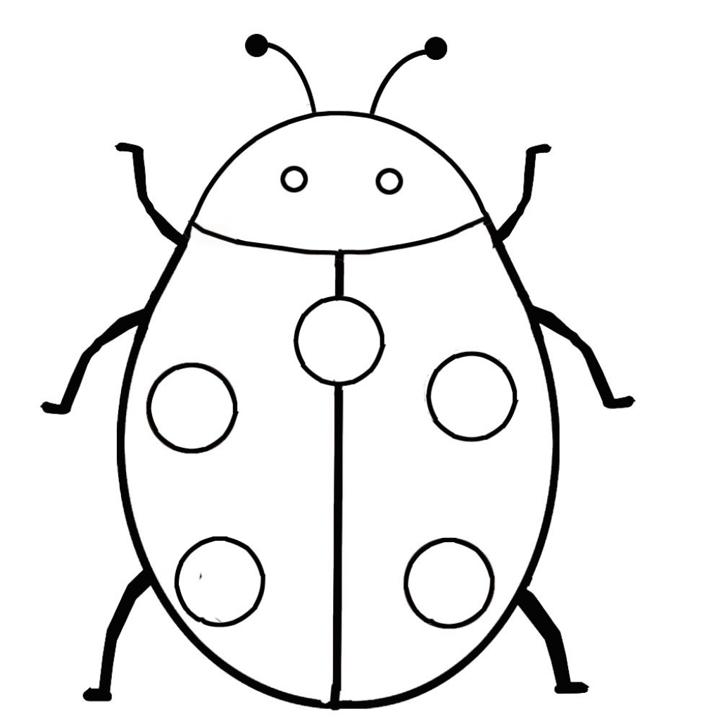 Insects clipart simple bug. Insect line drawing free