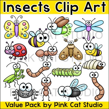 Insects clipart worm. Clip art bugs butterfly