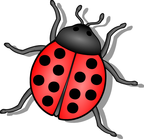 Cliparts zone cartoon insect. Insects clipart orange bug