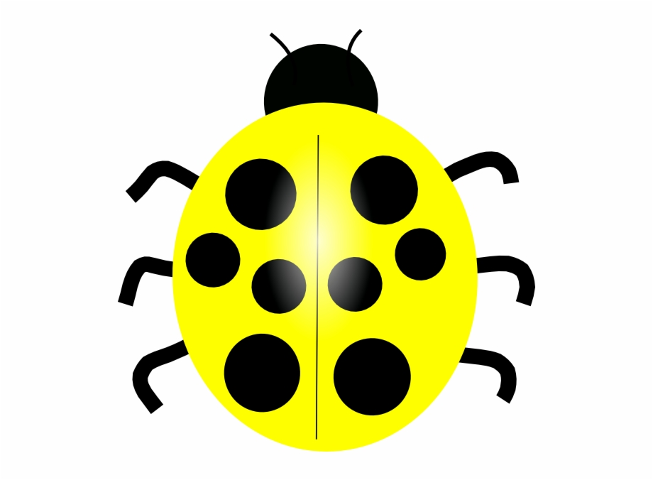 Yellow clip art of. Ladybug clipart colored