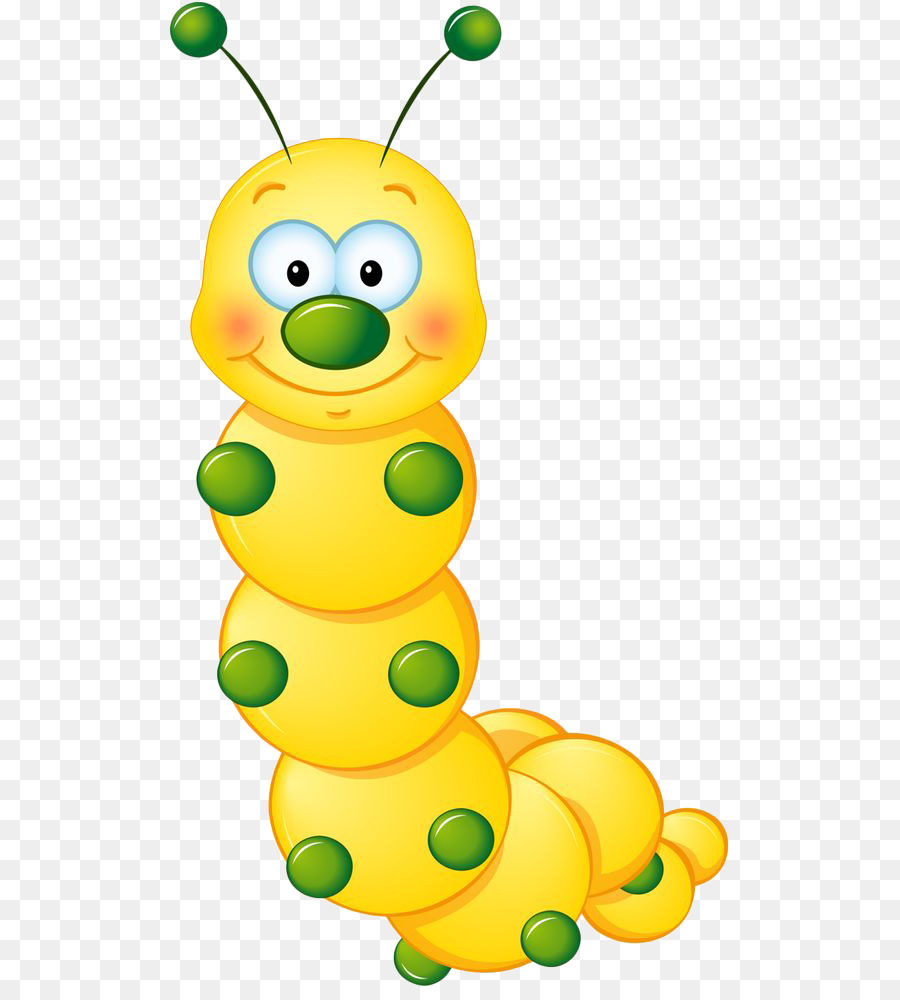 Larva cartoon png download. Insects clipart yellow bug