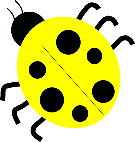 Ladybugs clipart family. Yellow clip art at
