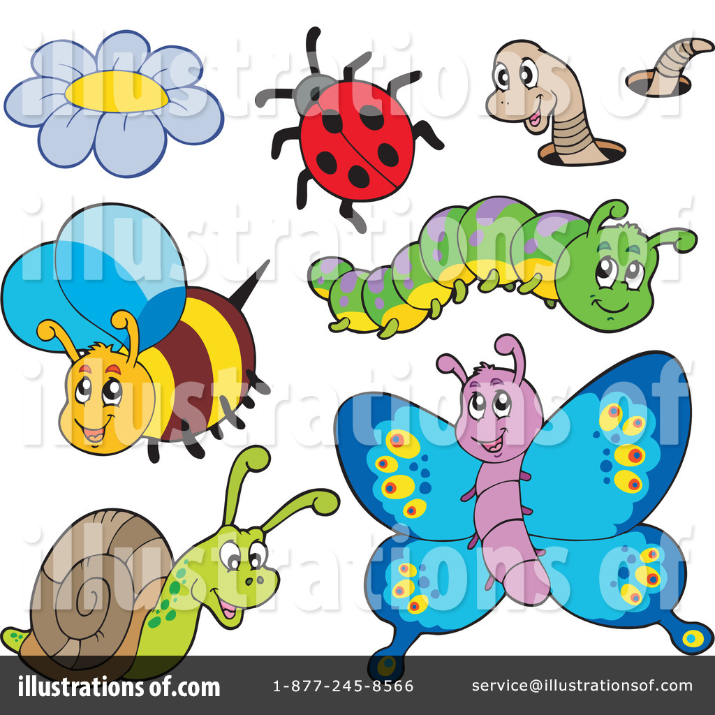 Illustration by visekart royaltyfree. Insects clipart
