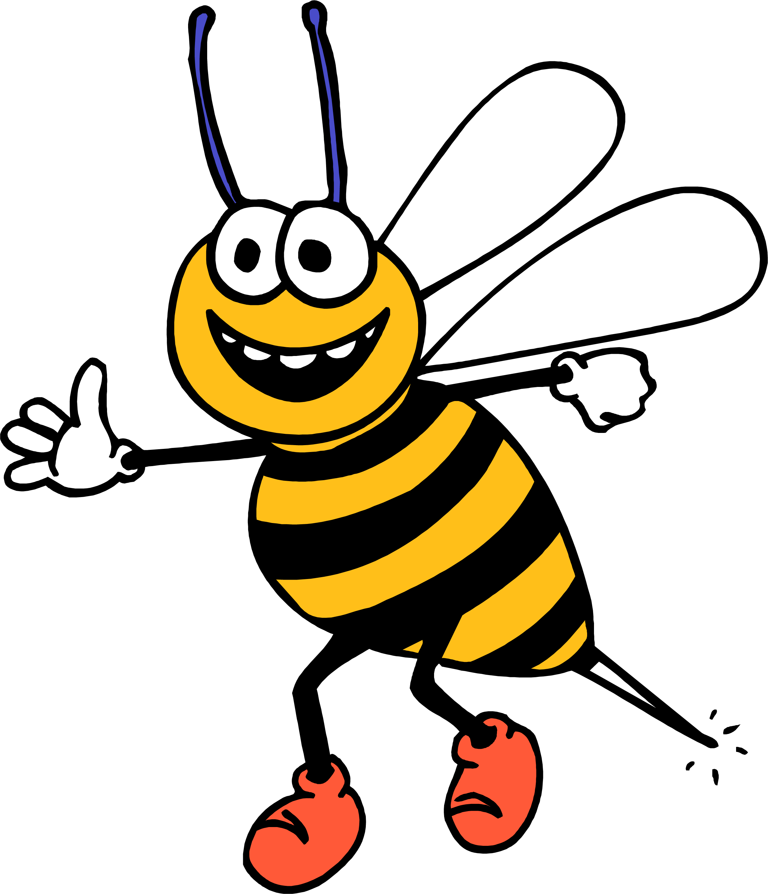Honey bee at getdrawings. Insects clipart happy