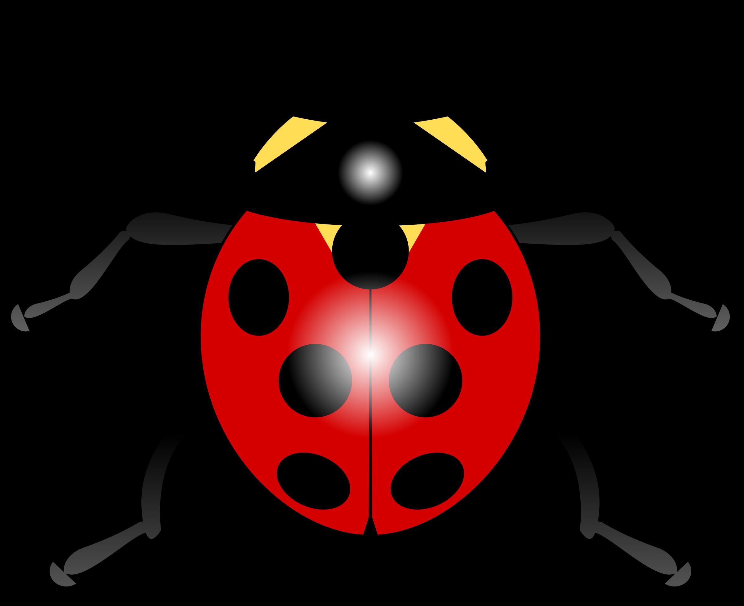 . Ladybug clipart red animal