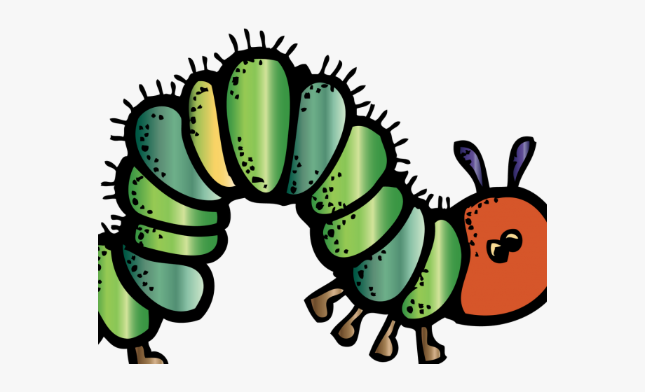 Furry very hungry . Literacy clipart book reading caterpillar