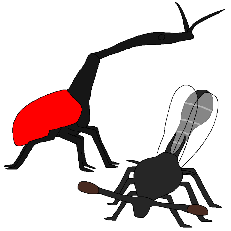 Strange faced by wildandnaturefan. Insects clipart sad