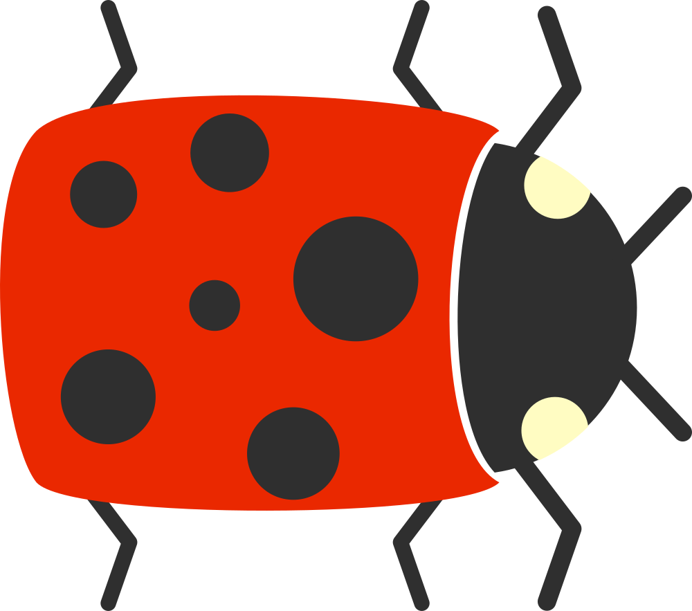 Insects clipart simple bug. Onlinelabels clip art cartoon