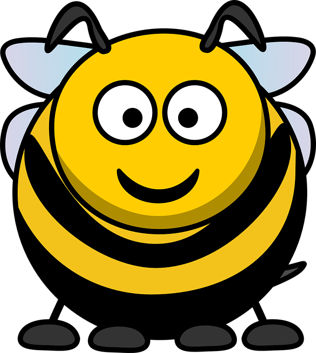 Cartoon bugs and shop. Insects clipart simple bug