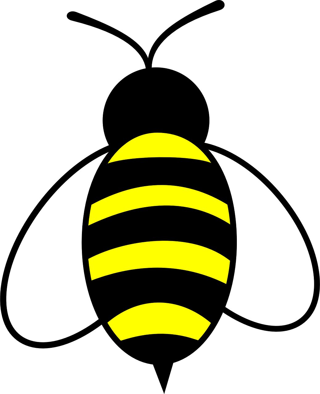 Honey bee insect buzz. Insects clipart yellow bug