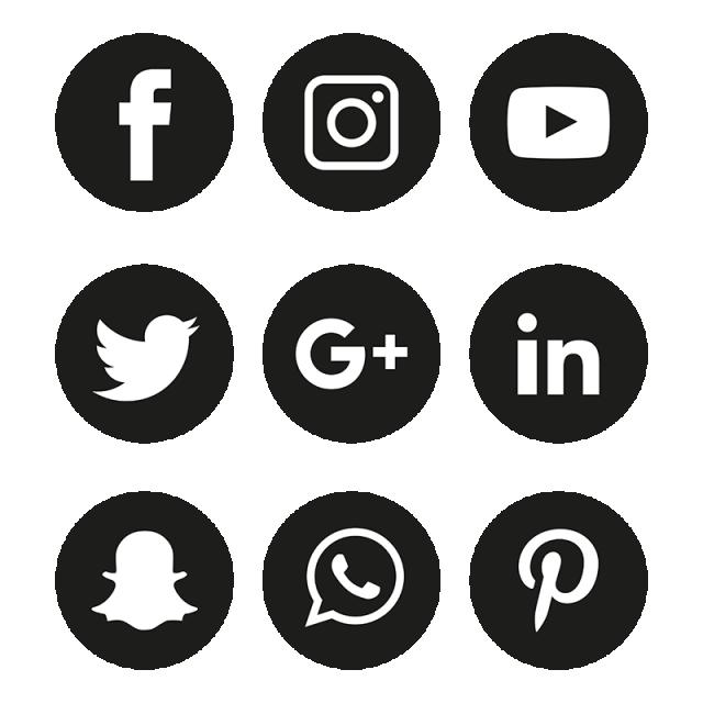 Social media icons set. Instagram clipart illustrator