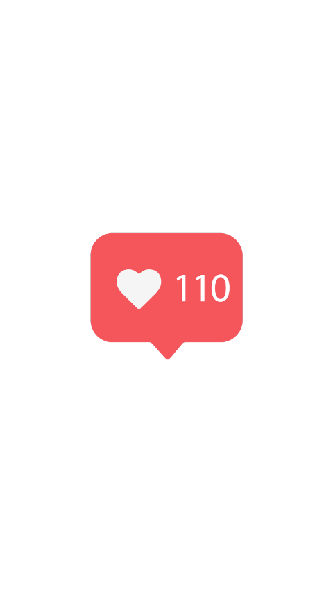 Instagram likes. Clipart transparent free for