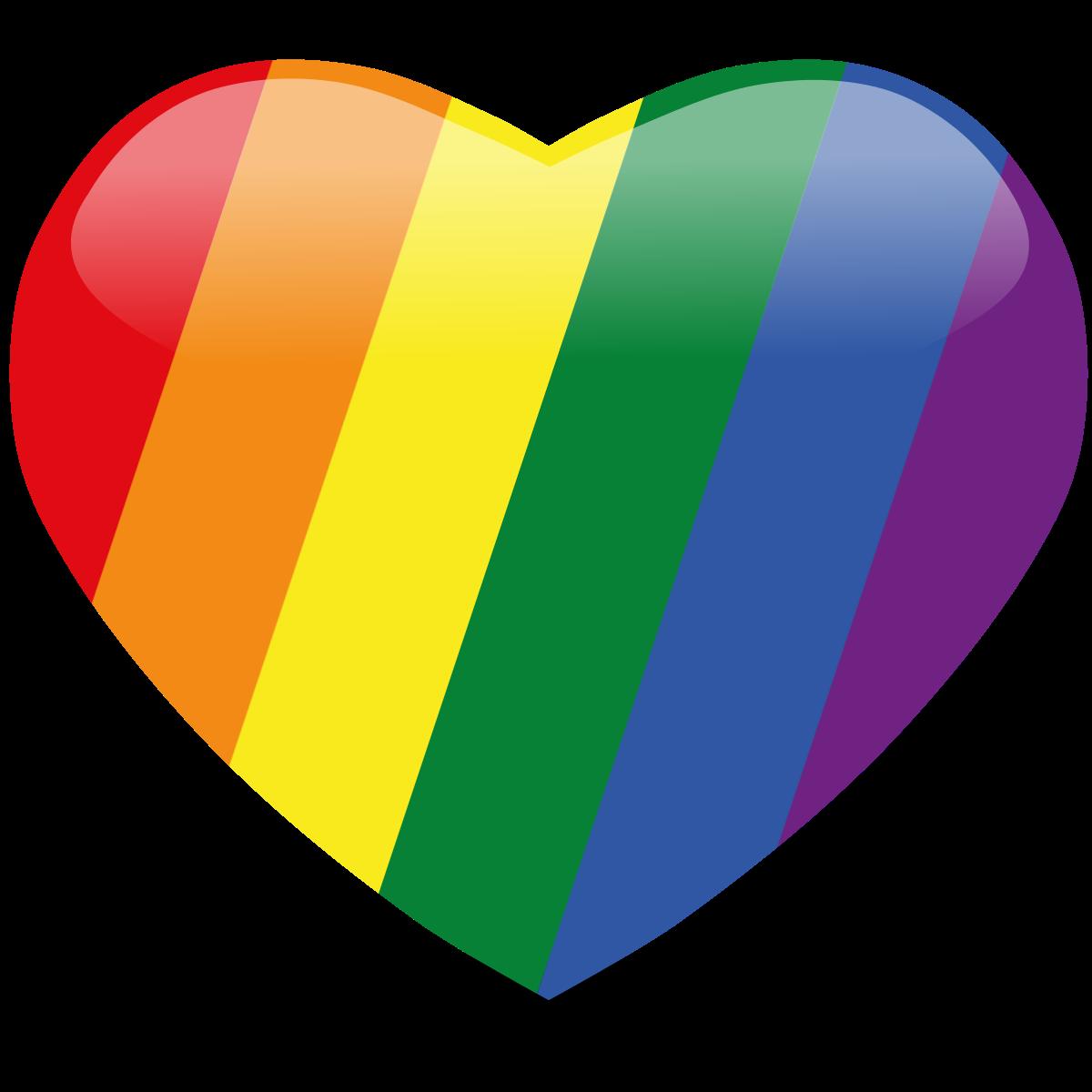 Rainbow hearts png. Heart