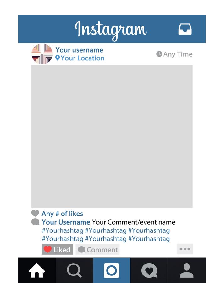 Instagram frame png. Custom selfie colour crew