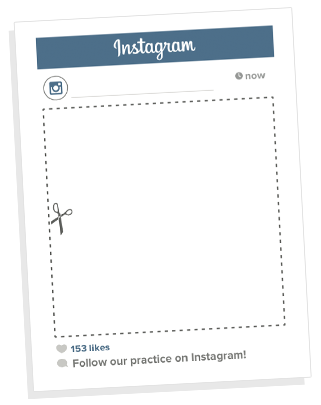 Instagram frame png. Promote your page with