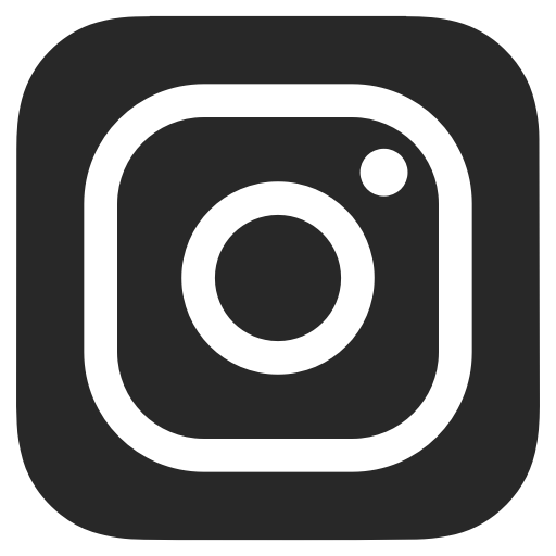 Instagram icon png. Transparent on dark grey