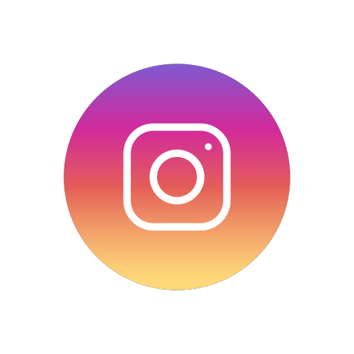 Instagram png icon. Popular social media flat