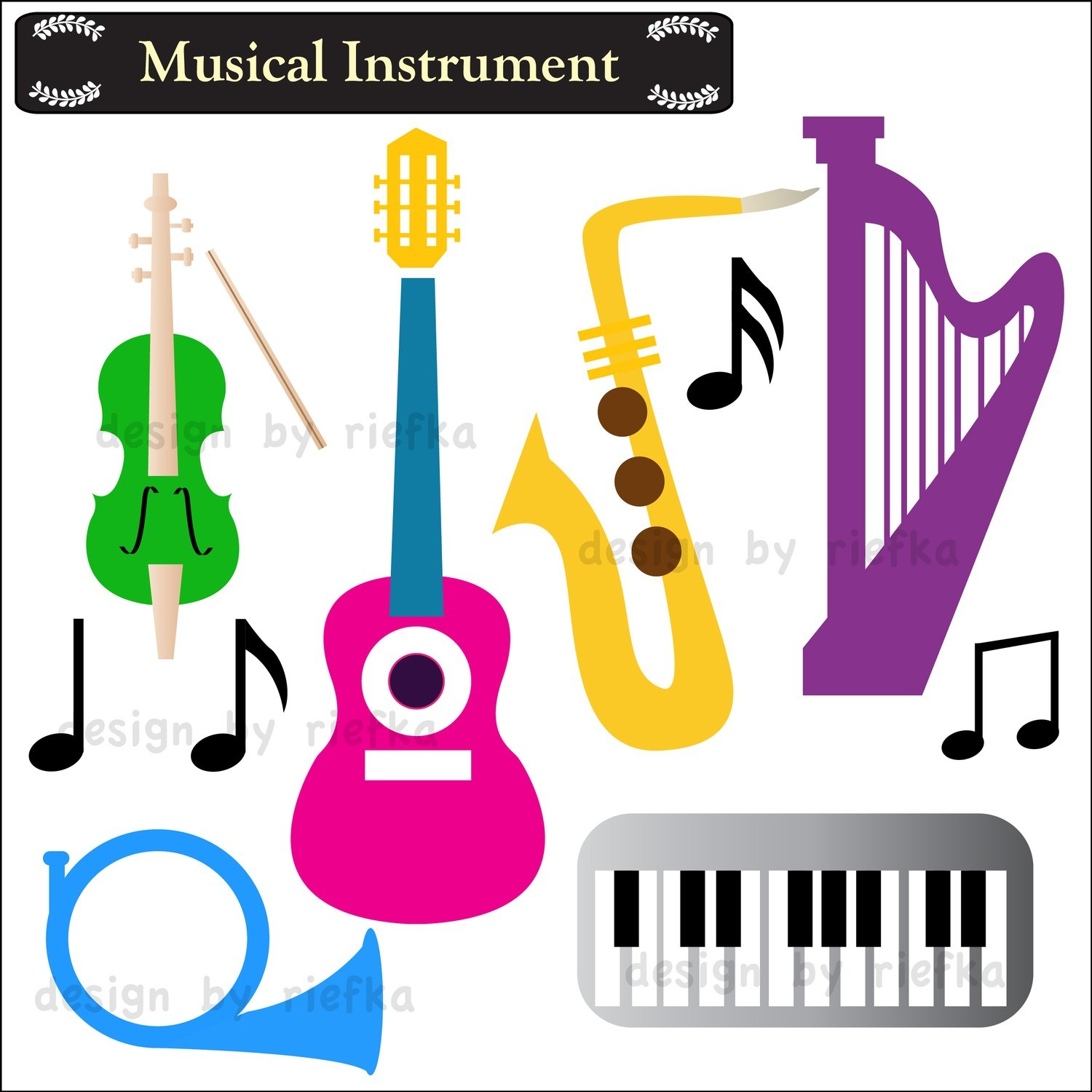 Instruments clipart. Musical