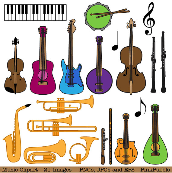 Musical instrument clip art. Instruments clipart