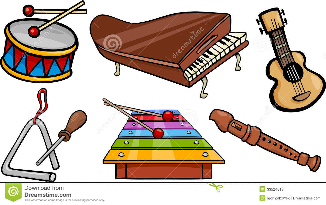 Instruments clipart. Cartoon musical