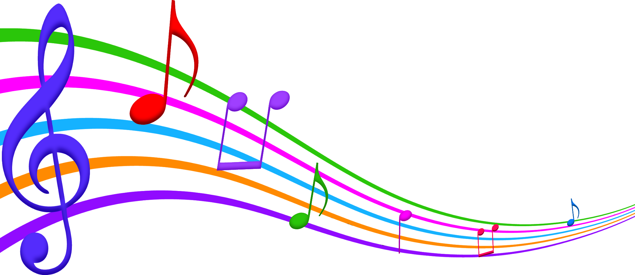 Colorful note wallpapers for. Musical clipart music education