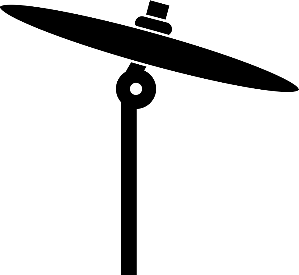 Instruments clipart cymbal. Thin musical instrument side