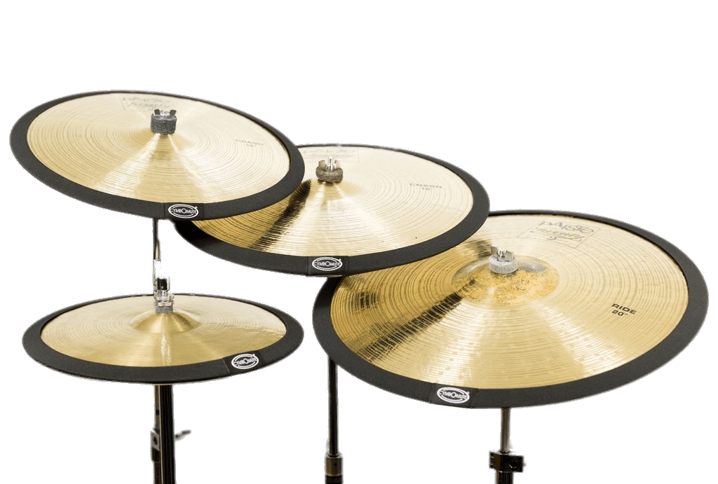 Set of mutes transparent. Instruments clipart cymbal