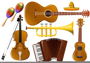 Musical free images at. Mexican clipart instrument mexican