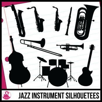 Band silhouettes clip art. Jazz clipart jazz instrument