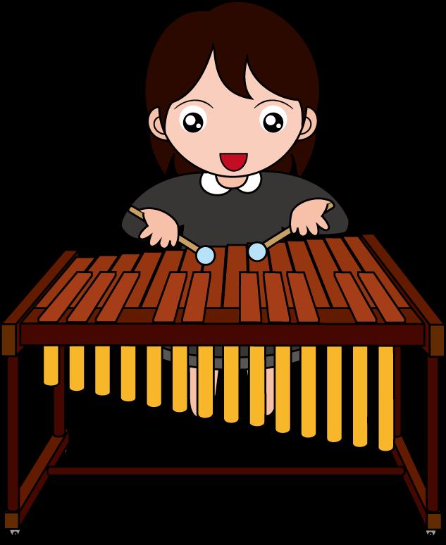 Marimba keyboard music transprent. Xylophone clipart percussion instrument