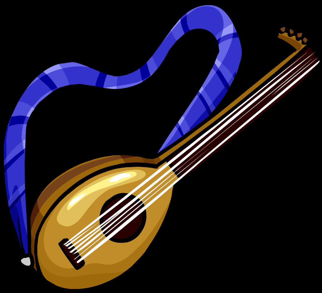 Lute club penguin rewritten. Musician clipart medieval