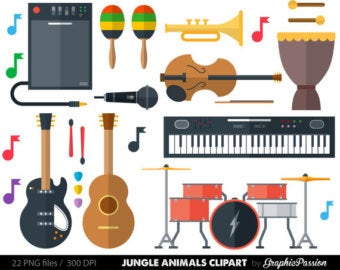 Instruments clipart popular. Musical etsy