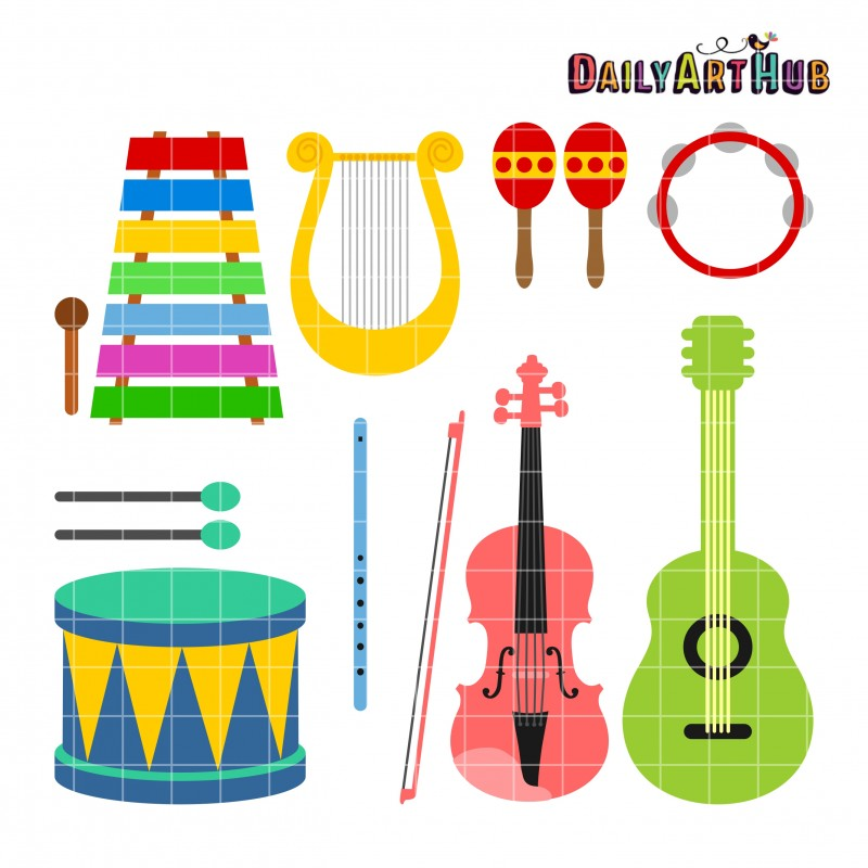 musical instruments clipartlook. Musician clipart preschool music