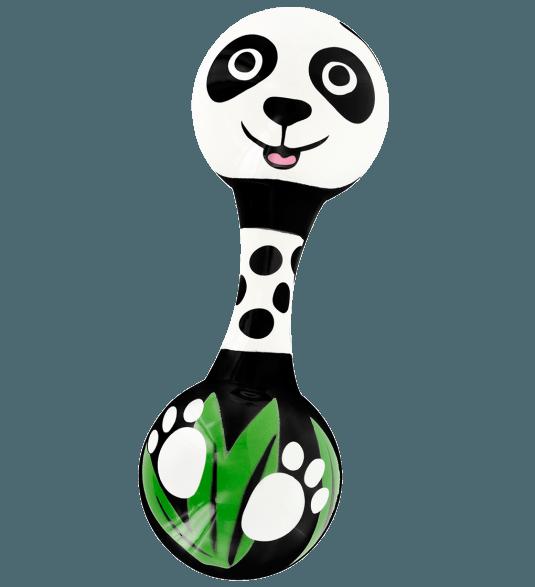 Chica rattle panda pylones. Maracas clipart rhythm instrument
