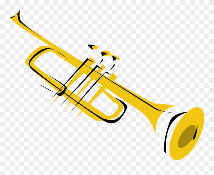 Instruments clipart transparent background. Trumpet clip art png