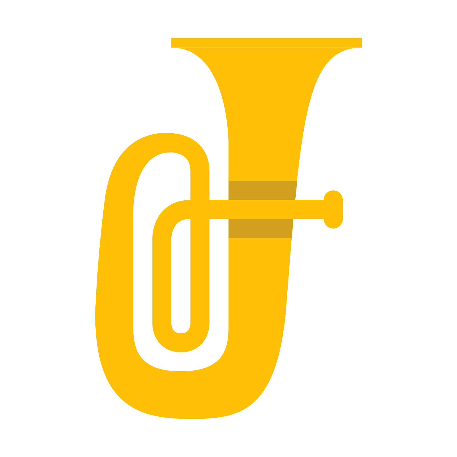 Sousaphone silhouette at getdrawings. Instruments clipart tuba