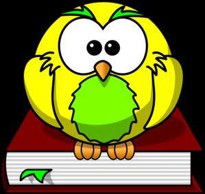 Intelligent clipart. Yellow owl clip art