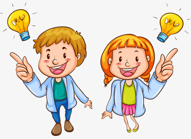 Intelligent clipart. Smart kid clever boy