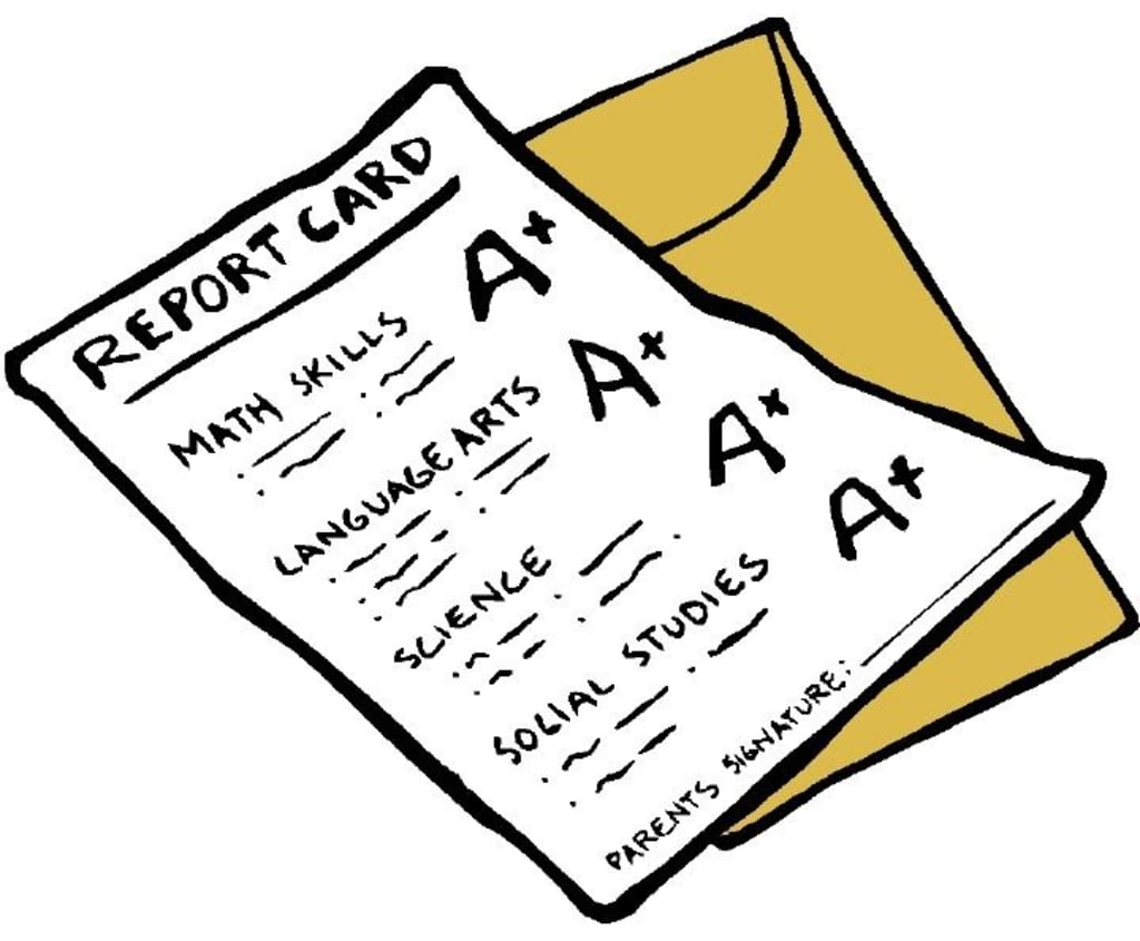 Why grades don t. Intelligent clipart report card