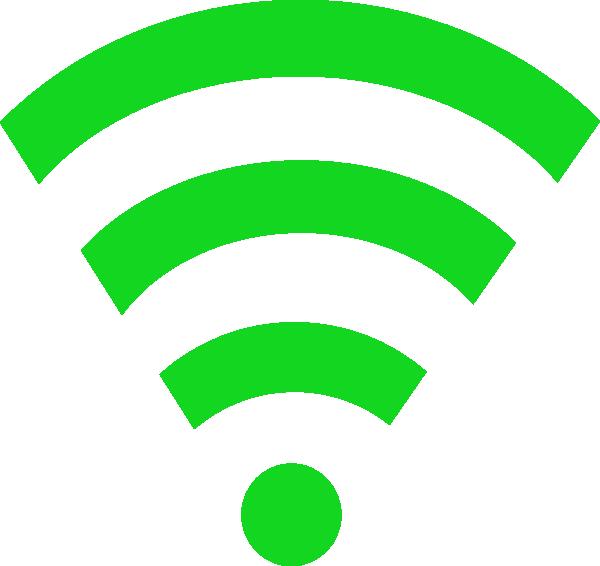 Green wifi link clip. Internet clipart antenna