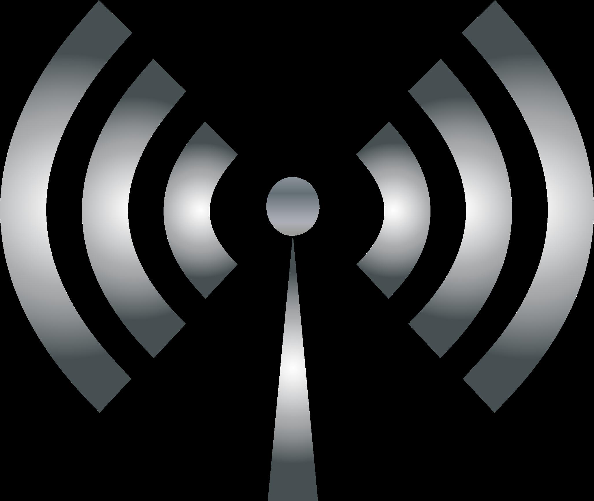 Internet clipart antenna. Metallic big image png