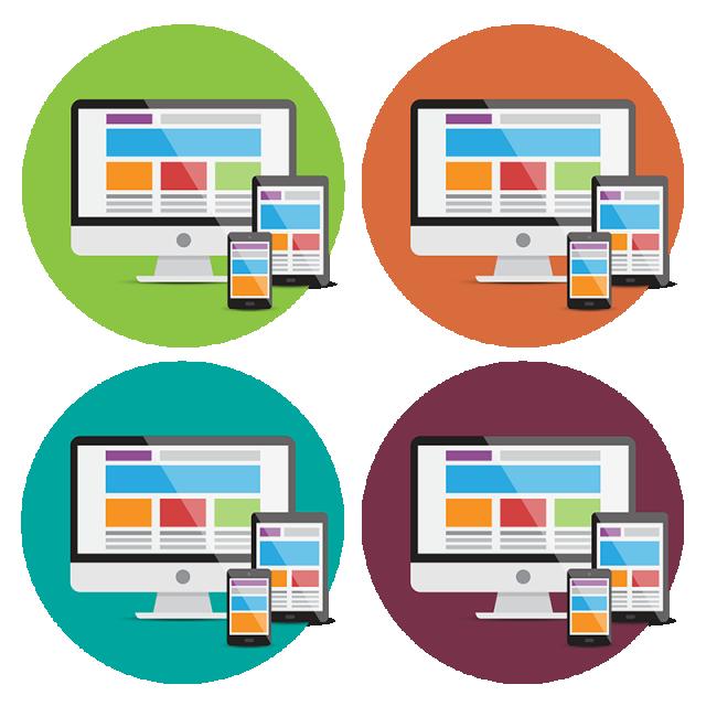 Devices icons responsive web. Pc clipart designer