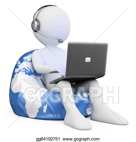 Internet clipart internet browsing. D white people stock