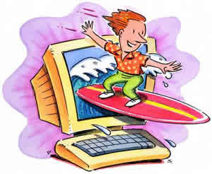 Difference between web surfing. Internet clipart internet browsing
