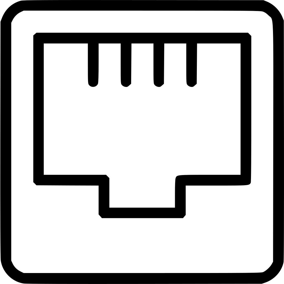 Ethernet port connection svg. Internet clipart internet network