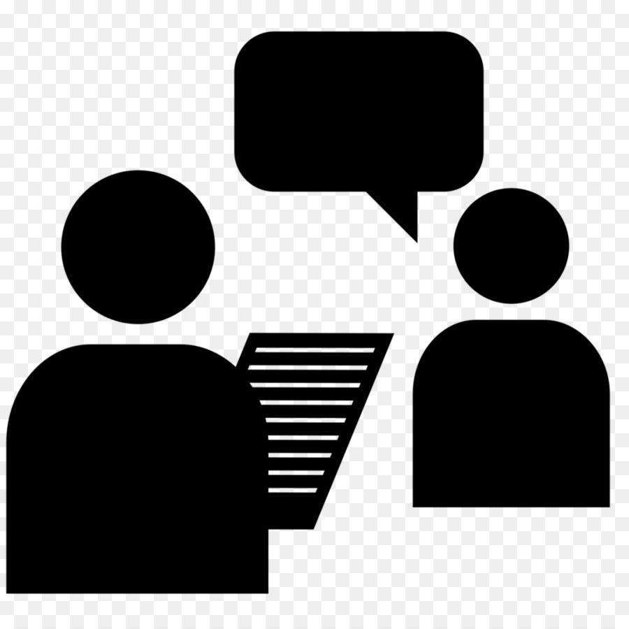 Cartoon information question . Interview clipart face to face interview