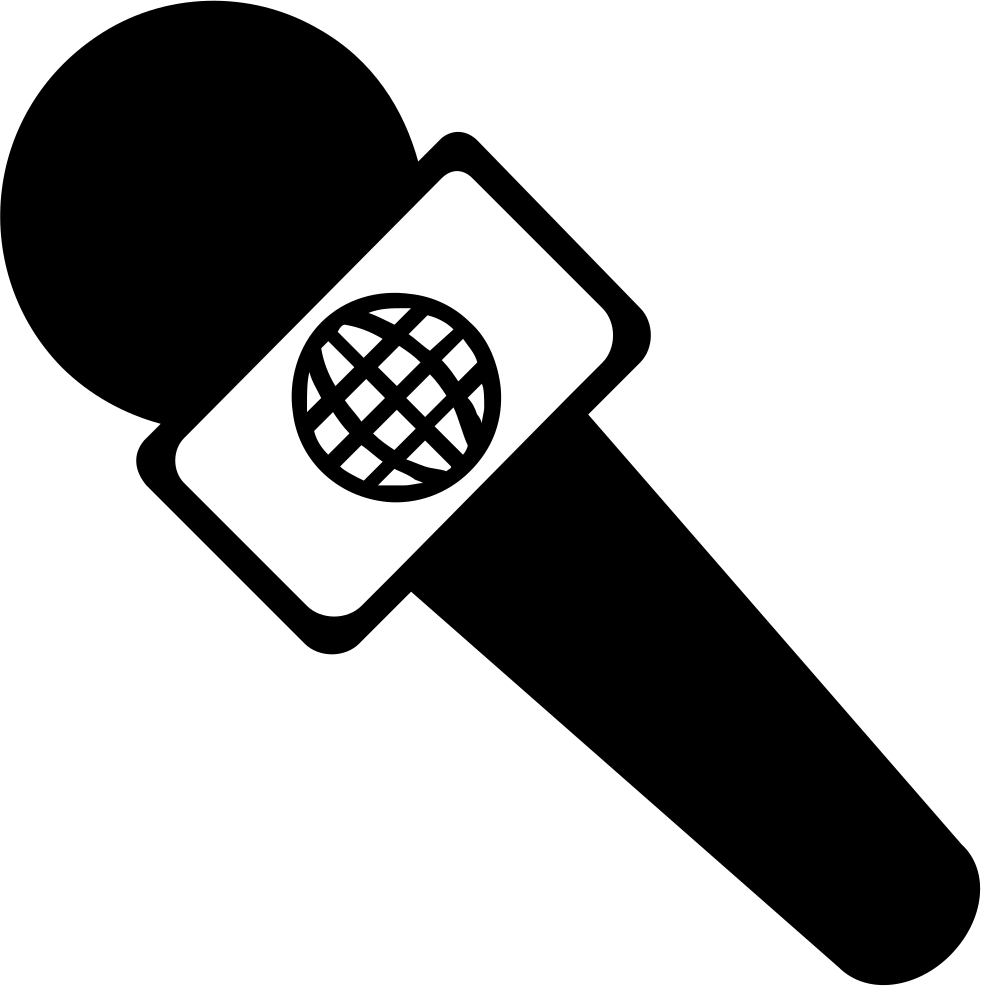 Interview svg png icon. Microphone clipart reporter microphone