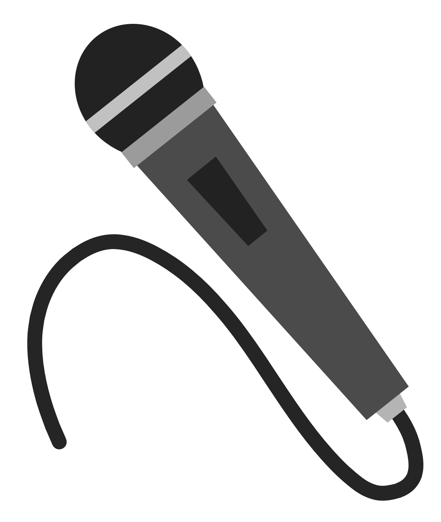 silhouette clipart microphone