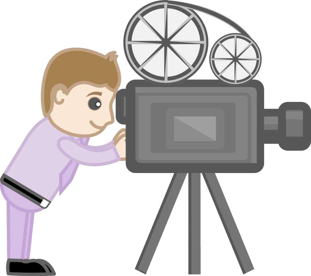 Cartoon clip art photographer. Photography clipart movie camera
