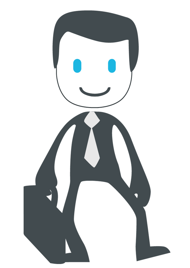 Job search for management. Manager clipart company director